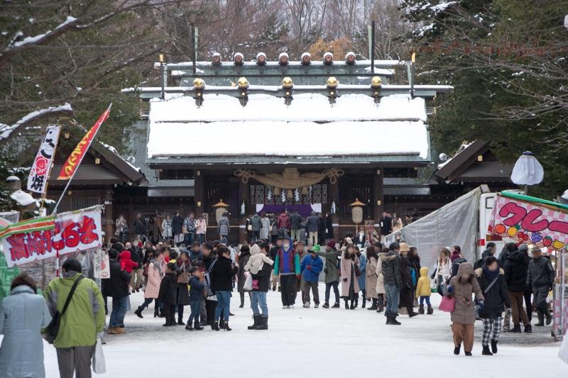 北海道神宮の露店